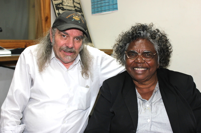 3CR Rhythm and Blues Journalist Werner Martin with Blues singer / songwriter Olive Knight