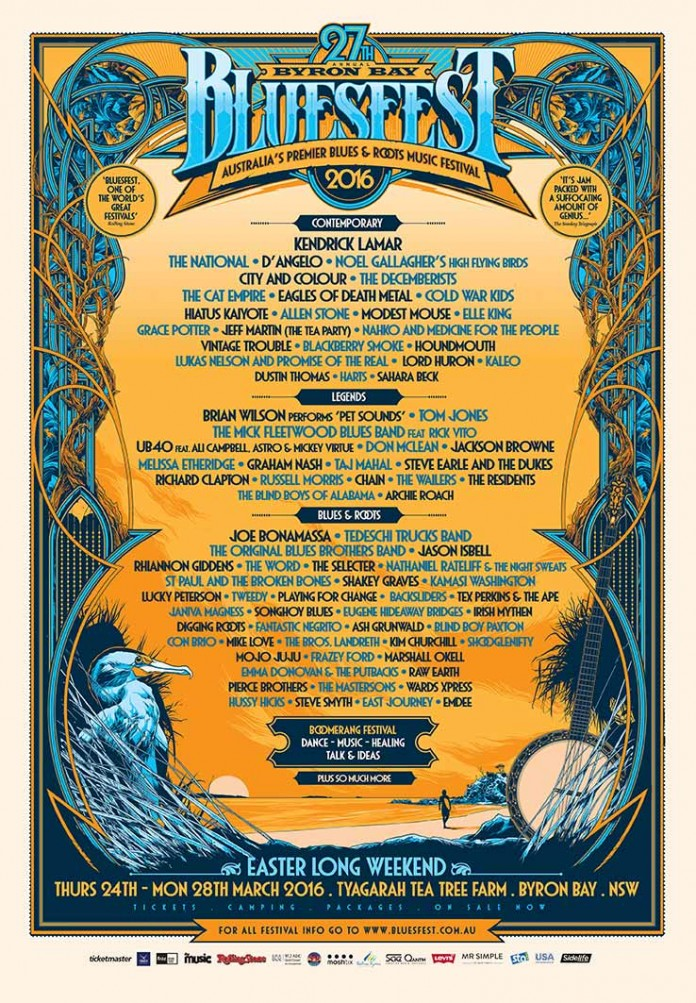 bluesfest playing schedule times and stages revealed!!