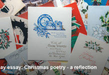 sunday essay: christmas poetry – a reflection