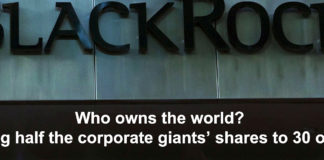 who owns the world? tracing half the corporate giants' shares to 30 owners
