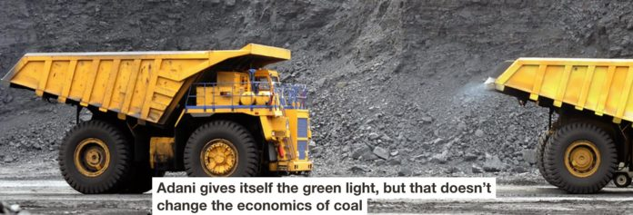 adani gives itself the green light, but that doesn't change the economics of coal