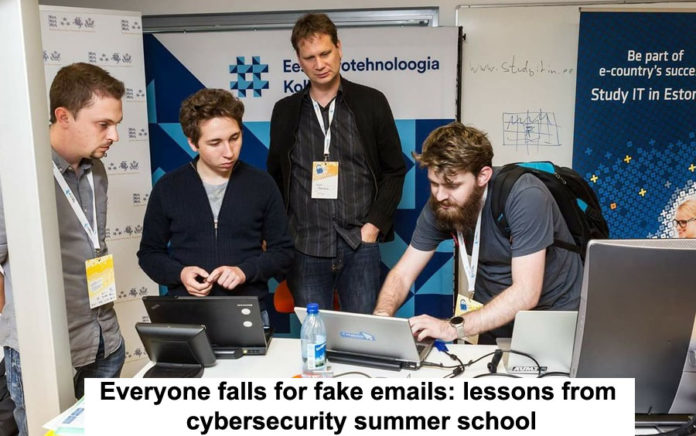 everyone falls for fake emails: lessons from cybersecurity summer school
