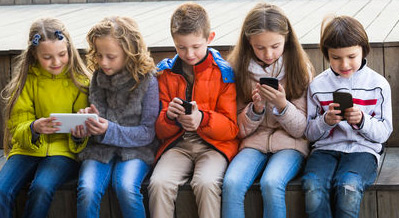 Image of kids texting