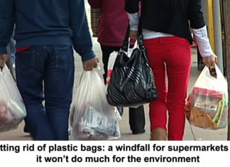 getting rid of plastic bags: a windfall for supermarkets but it won't do much for the environment