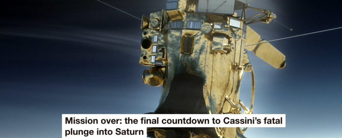 mission over: the final countdown to cassini's fatal plunge into saturn