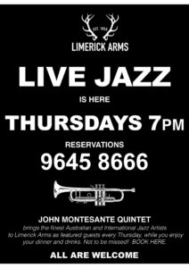 hi jazz-lovers : jmq jazz thursdays has moved to south melbourne – starting this thursday , oct 5 at 7pm