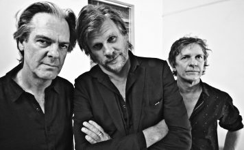 Don Walker, Tex Perkins and Charlie Owen photographed in Marrickville, NSW, on 8 December 2016 by Bleddyn Butcher