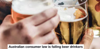 australian consumer law is failing beer drinkers