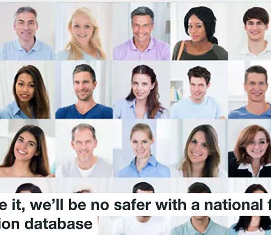 National facial recognition database Heading