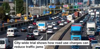 City wide trial shows how road use charges can reduce traffic jams Header