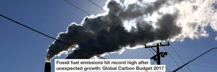 FOSSIL FUEL EMISSIONS HIT RECORD HIGH AFTER UNEXPECTED GROWTH: GLOBAL CARBON BUDGET 2017