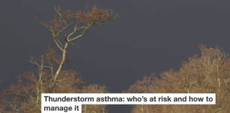 thunderstorm asthma: who's at risk and how to manage it