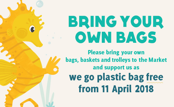 Bring Your Own Bags As We Go Plastic Bag Free Tomorrow!