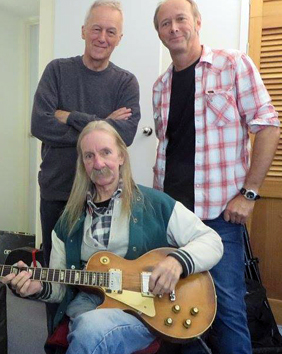 Image of Mick [Centre bottom] with Mike Rudd [Left] & Darrell Roberts Right]