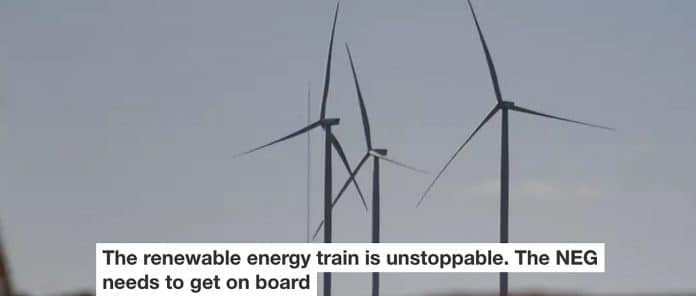 The Renewable Energy Train Is Unstoppable. The Neg Needs To Get On Board