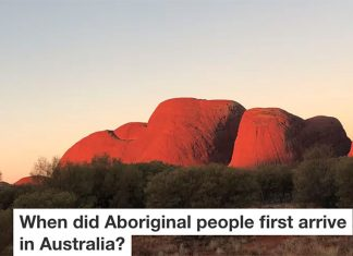 When did Aboriginal people move into Australia