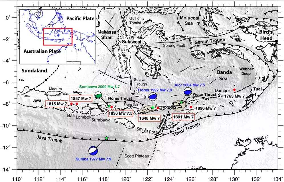 Two Types Of Tectonic Plate Activity Create Earthquake And Tsunami Risk On Lombok