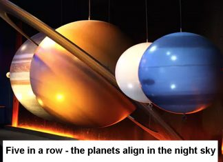 5 planets align in the night sky Header