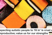 Autistic people and fitting in Header