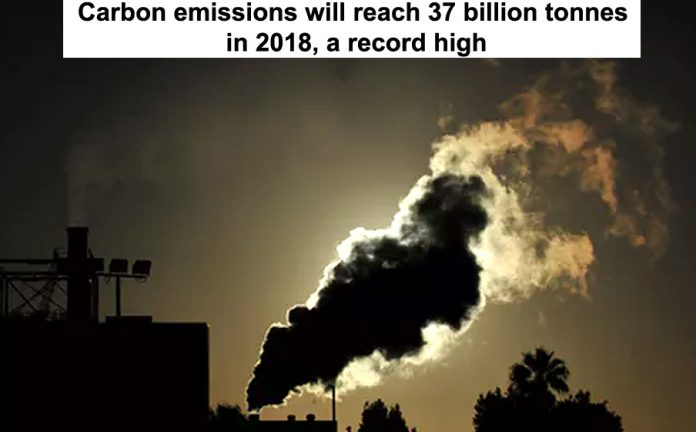 Carbon emissions reach record high Header
