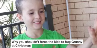 Why you shouldn't force the kids to hug Granny at Christmas