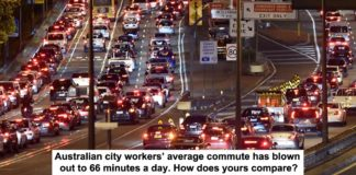 australian city workers' average commute has blown out to 66 minutes a day. how does yours compare?