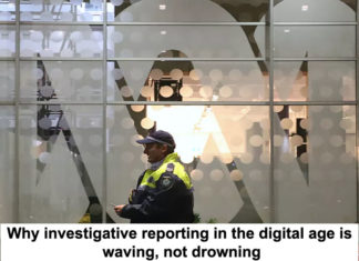 why investigative reporting in the digital age is waving, not drowning
