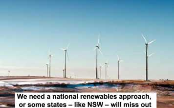 we need a national renewables approach, or some states – like nsw – will miss out