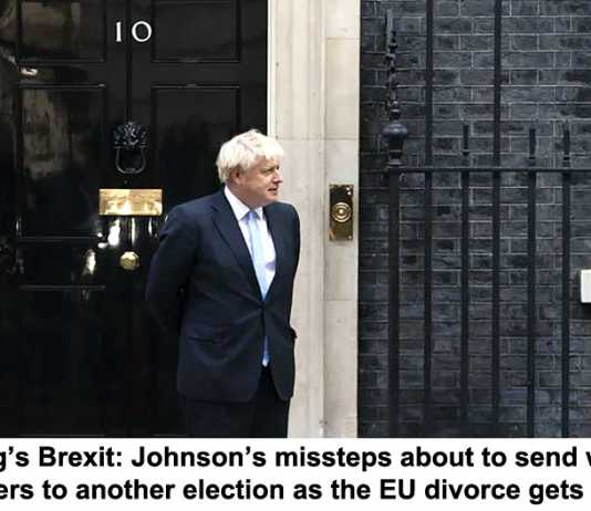 a dog's brexit: johnson's missteps about to send weary voters to another election as the eu divorce gets ugly