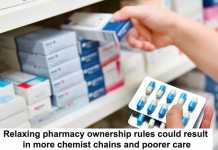 relaxing pharmacy ownership rules could result in more chemist chains and poorer care