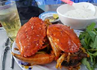 feeling sore and crabby? shell out for a lunch treat
