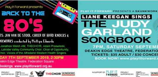 celebrate the 80's & judy garland in concert at deakin edge on september 7th