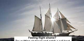 feeling flight shame? try quitting air travel and catch a sail boat
