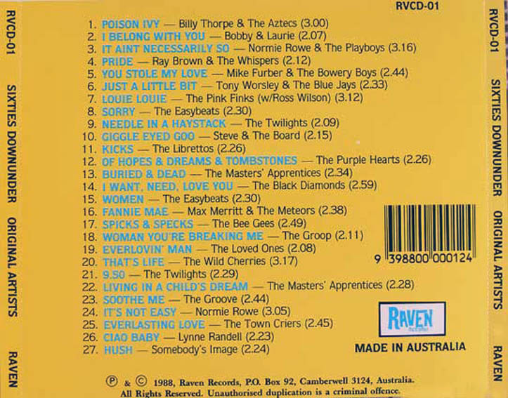 cream of the crate cd review #5: various artists – sixties down under (a compilation)