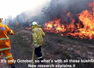 it's only october, so what's with all these bushfires? new research explains it