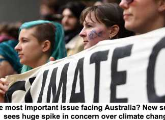 the most important issue facing australia? new survey sees huge spike in concern over climate change