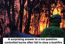 a surprising answer to a hot question: controlled burns often fail to slow a bushfire