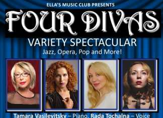 ella's music club presents…four divas-variety spectacular saturday 14 december