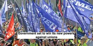 government set to win its new powers against unions