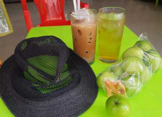 an apple a day … goes well with iced coffee