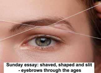 sunday essay: shaved, shaped and slit – eyebrows through the ages