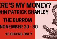 "7th floor theatre's production of john patrick shanley's ""where's my money""."