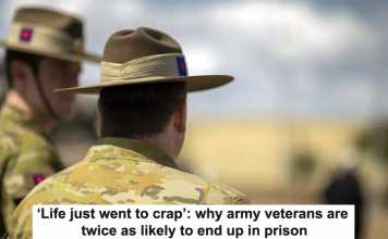 'life just went to crap': why army veterans are twice as likely to end up in prison