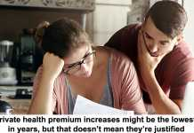 private health premium increases might be the lowest in years, but that doesn't mean they're justified