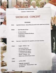 veneto club melbourne choir 1st showcase concert