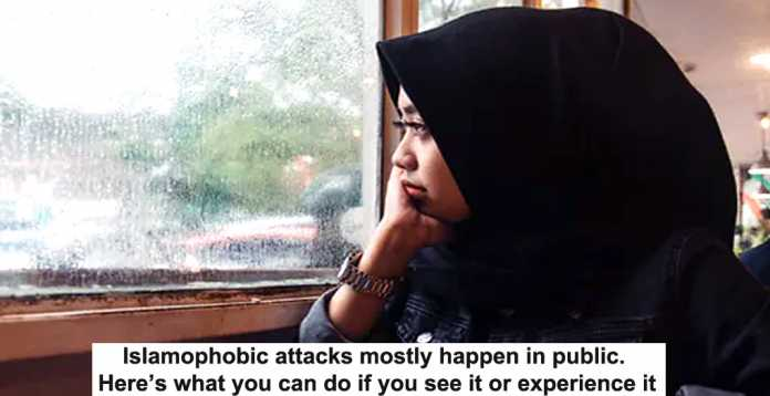 islamophobic attacks mostly happen in public. here's what you can do if you see it or experience it