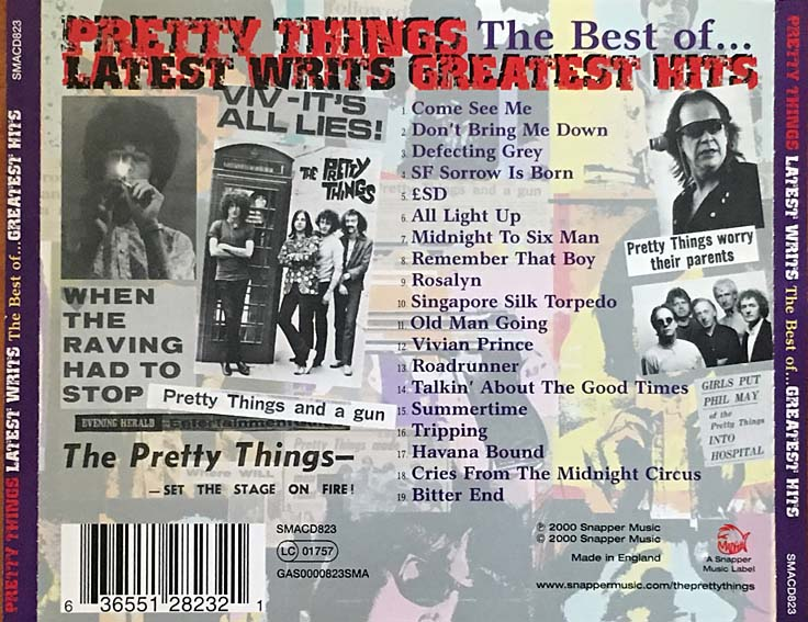 cream of the crate: cd review #37 – the pretty things: latest writs (the best of… greatest hits)