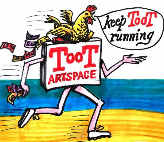 keep toot running! fundraiser exhibition opening thurs 12 dec 6-8pm