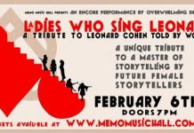 ladies who sing leonard – live at memo – thursday 6 february 7:00pm