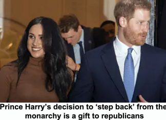 prince harry's decision to 'step back' from the monarchy is a gift to republicans